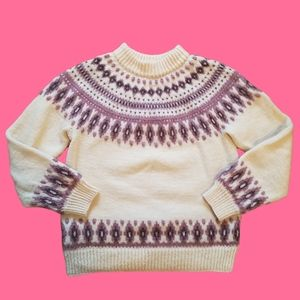 DALE OF NORWAY pure new wool sweater pink XS